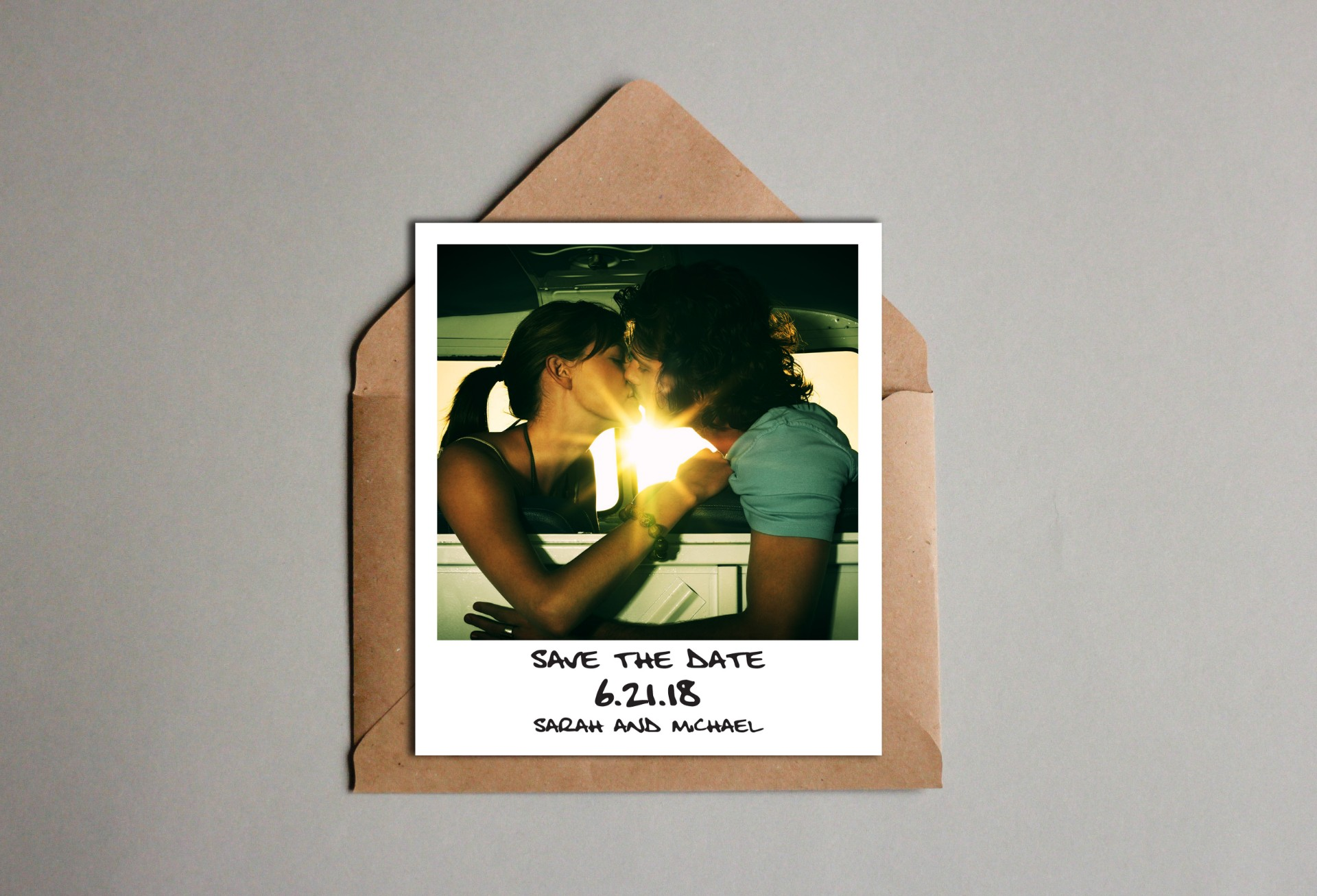 Wedding Announcement Save the Date Polaroid Wedding Invitation Save the Date Boho Save the Date With Picture Wedding Invitation