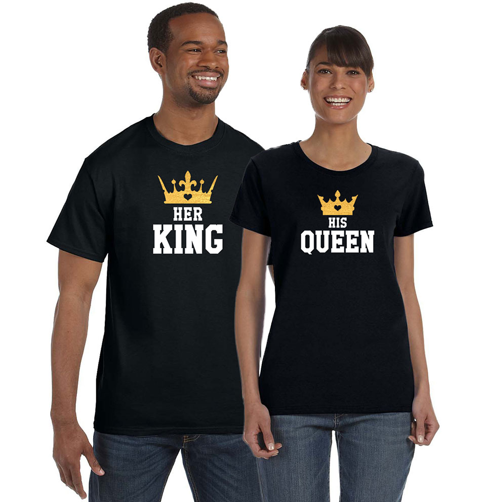 bc6127d8cc14 King and Queen Couples T-Shirts - Devoted To Your Day